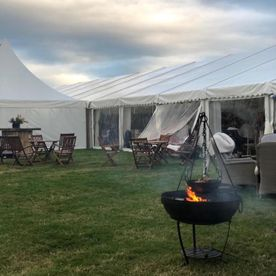Shropshire Hills Catering BBQ for 500 using our new Kadai fire-bowls