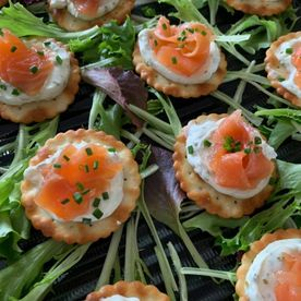 Shropshire Hills Catering Smoked Salmon and Cream Cheese Canapés