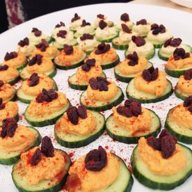 Shropshire Hills Catering homemade cucumber canapes