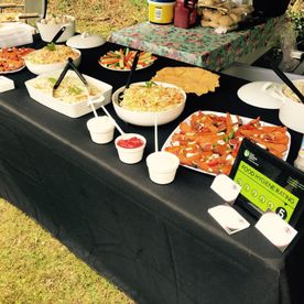 Shropshire Hills Catering outdoor mobile catering service, salads and sauces