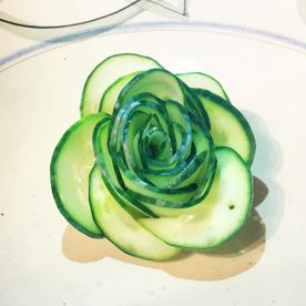 Shropshire Hills Catering decorative cucumber salad