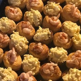Shropshire Hills Catering 70's style buffet food stuffed vol-au-vents