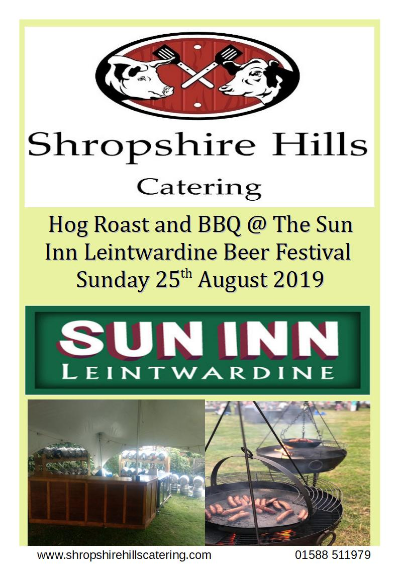 Shropshire Hills Catering BBQ & Hog Roast at Sun Inn Beer Festival 25th August 2019